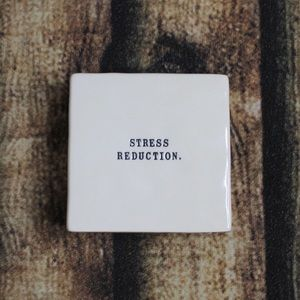 Rae Dunn Stress Reduction Paperweight